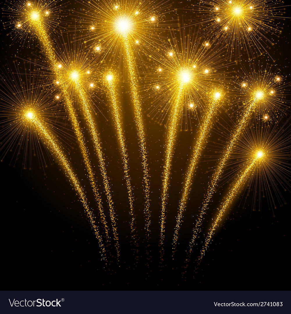 Holiday fireworks vector | Price: 1 Credit (USD $1)