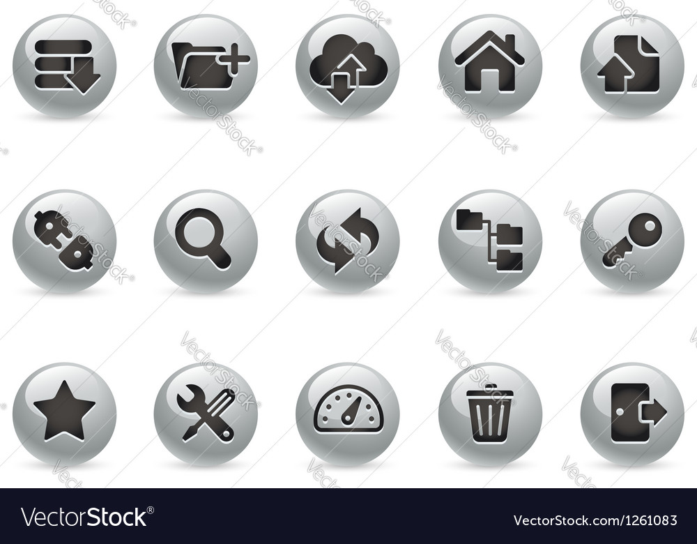 Hosting icons metalround series vector | Price: 1 Credit (USD $1)