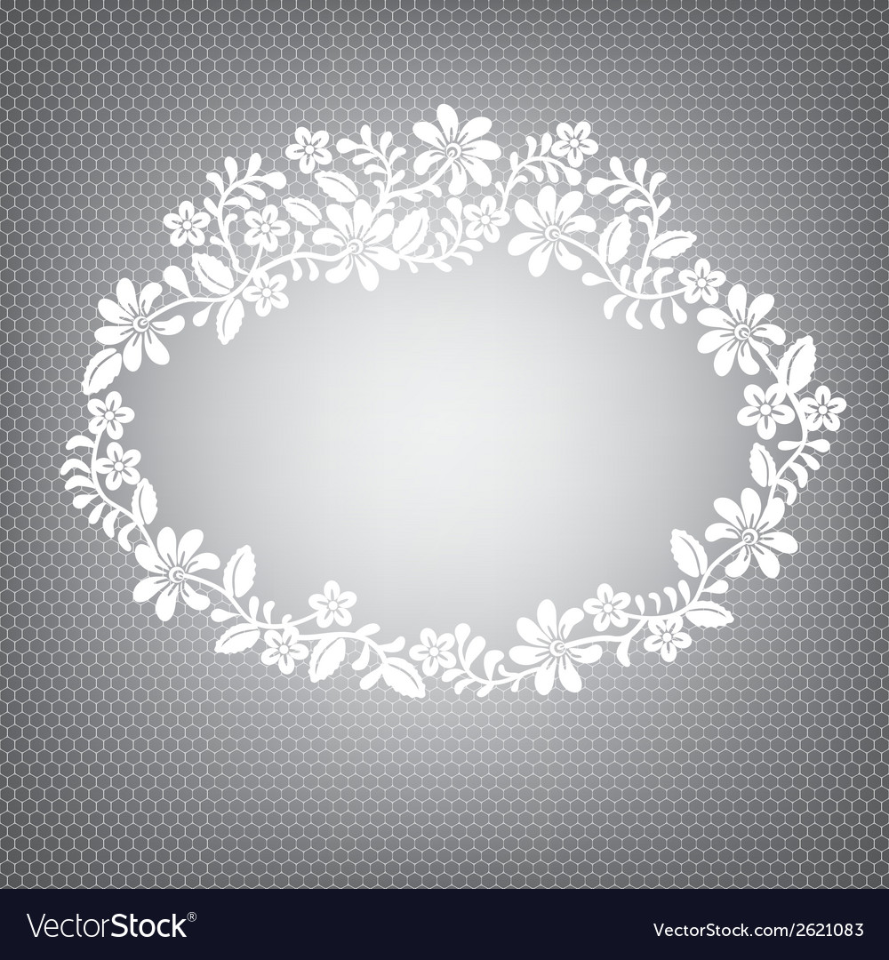 Lace white frame vector | Price: 1 Credit (USD $1)