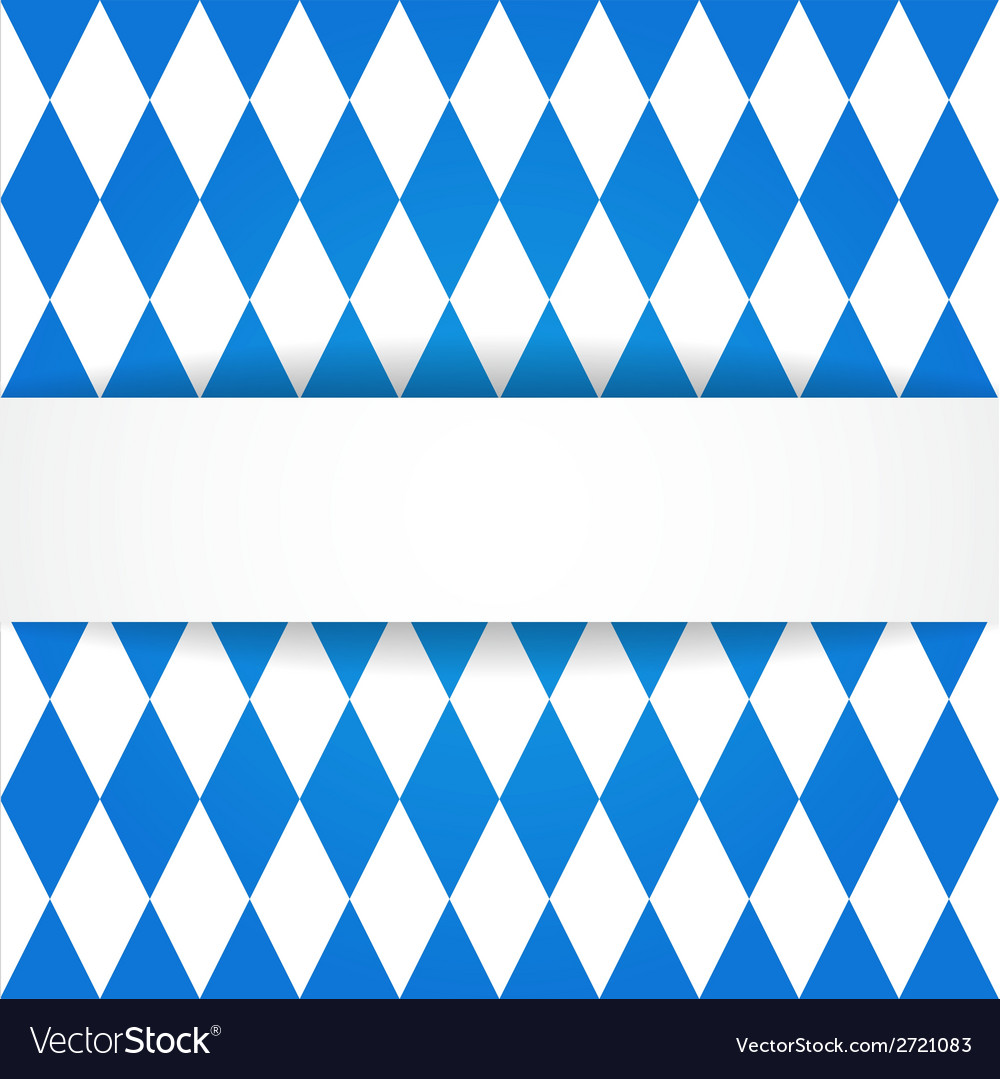 Oktoberfest background bavarian flag pattern vector | Price: 1 Credit (USD $1)