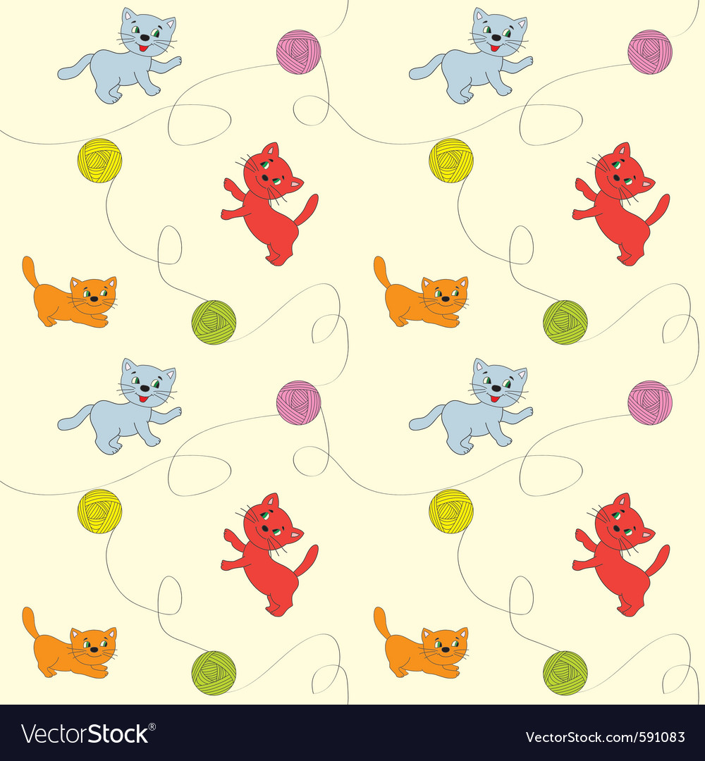 Seamless cats vector | Price: 1 Credit (USD $1)