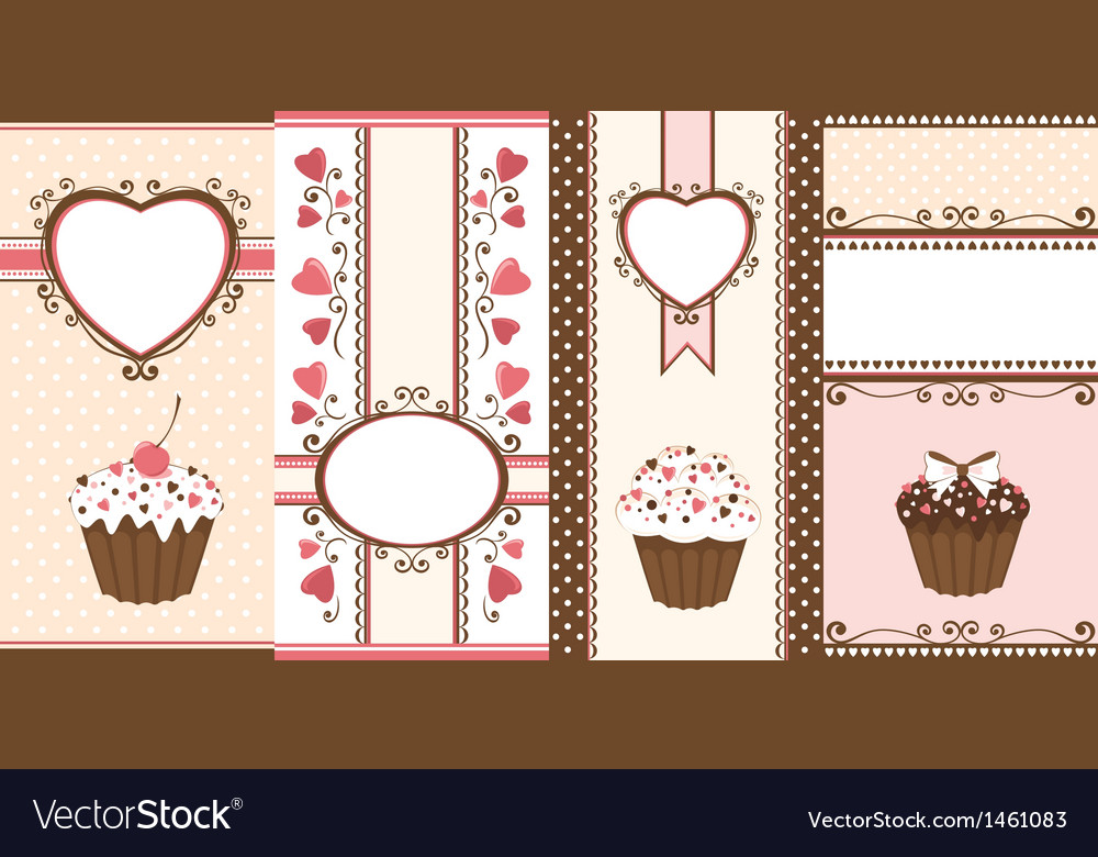 Set of romantic banners vector | Price: 1 Credit (USD $1)
