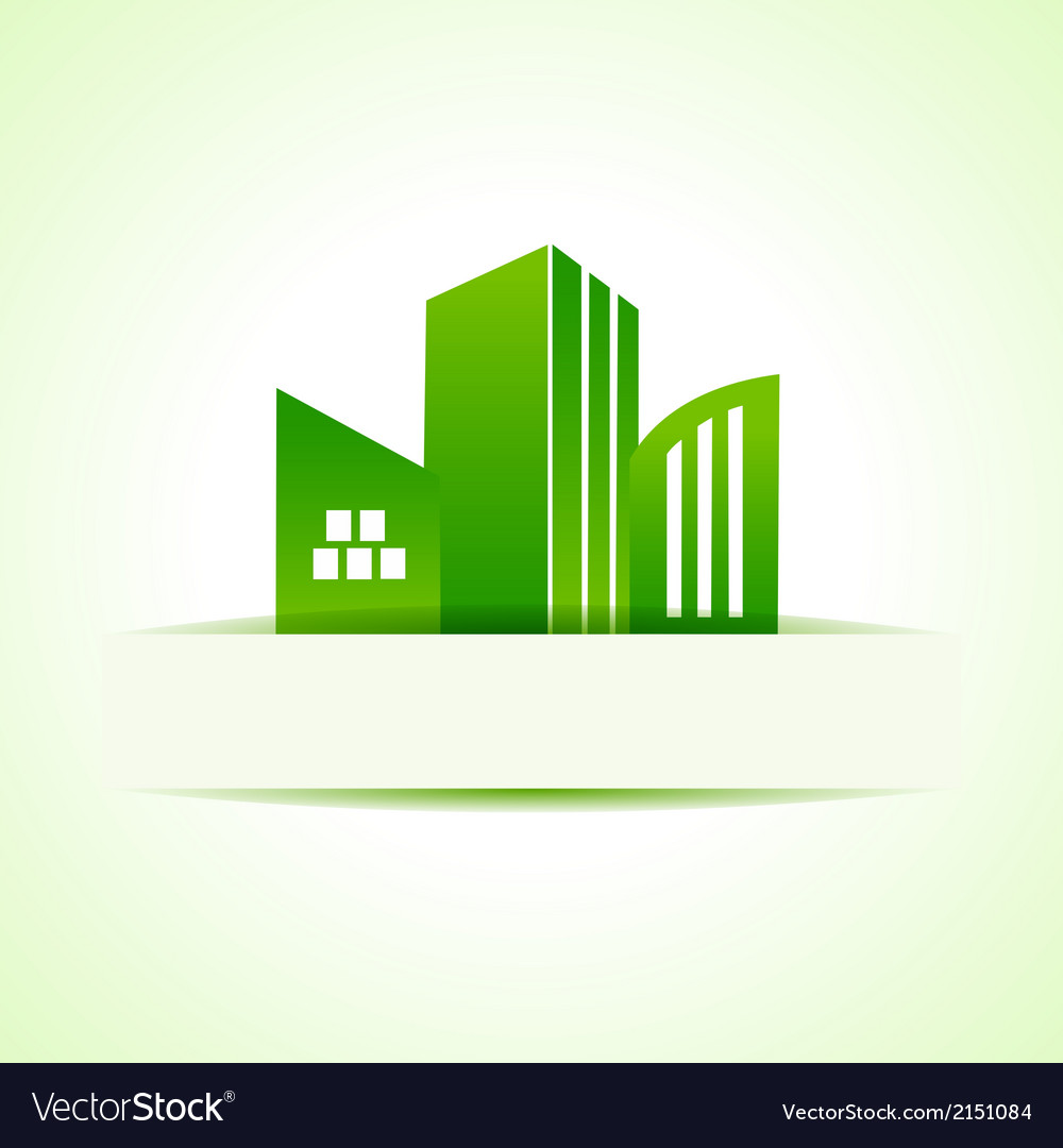 Abstract eco real estate design vector | Price: 1 Credit (USD $1)