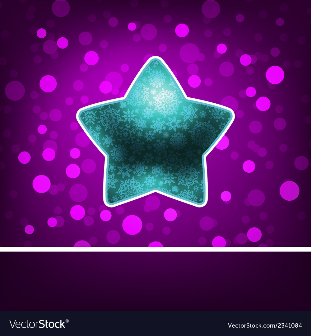 Blue star on fiolet abstract happy new year eps 8 vector | Price: 1 Credit (USD $1)
