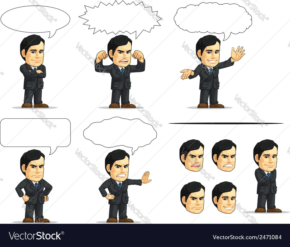 Businessman or company executive customizable 13 vector | Price: 1 Credit (USD $1)