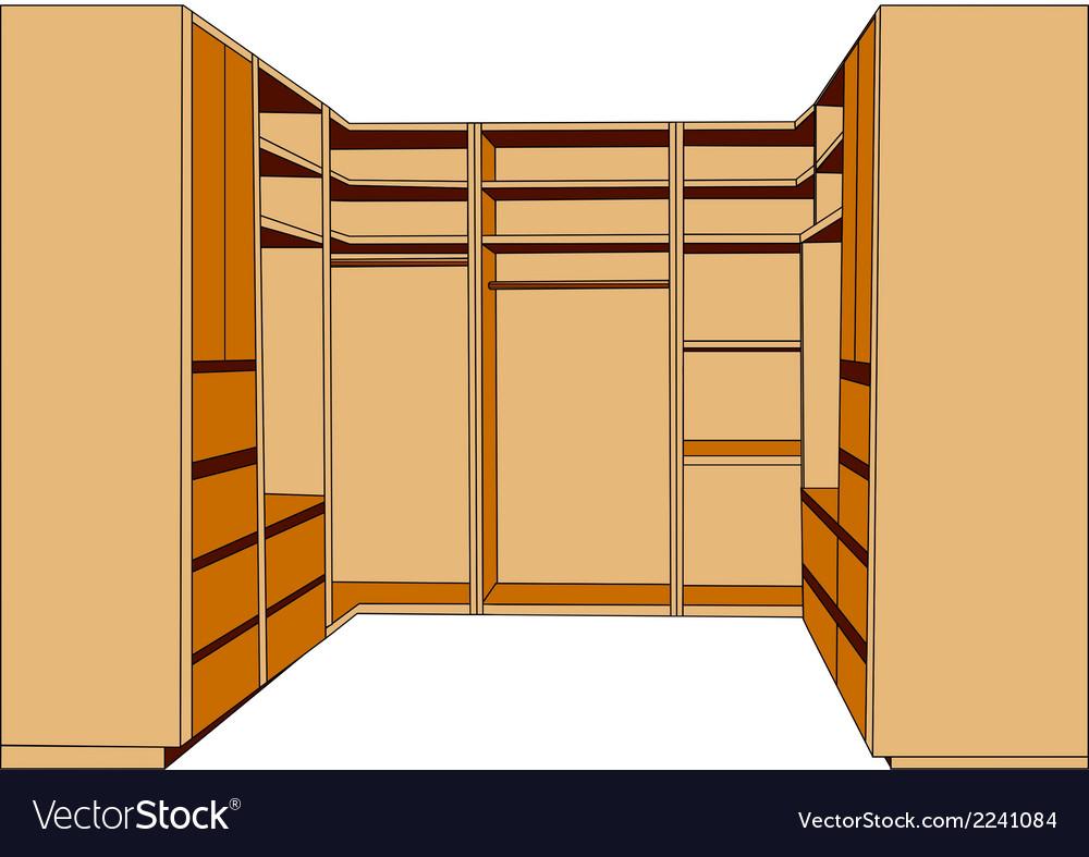 Clothes closet vector   Price: 1 Credit (USD $1)