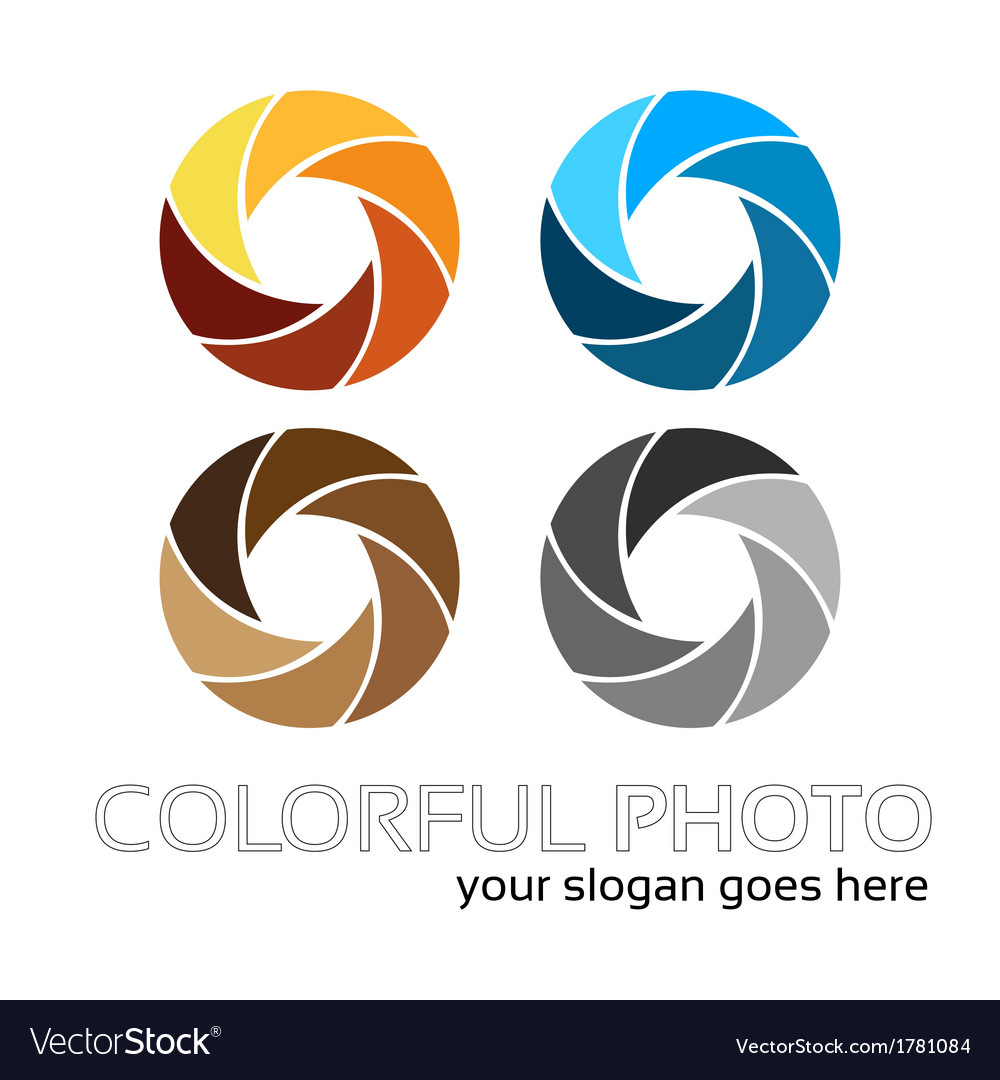 Colorful foto logo 4in1 vector | Price: 1 Credit (USD $1)