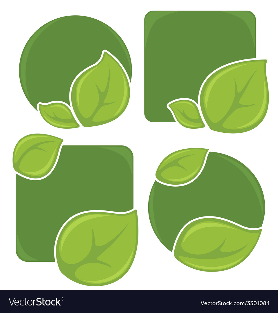 Eco stickers vector | Price: 1 Credit (USD $1)