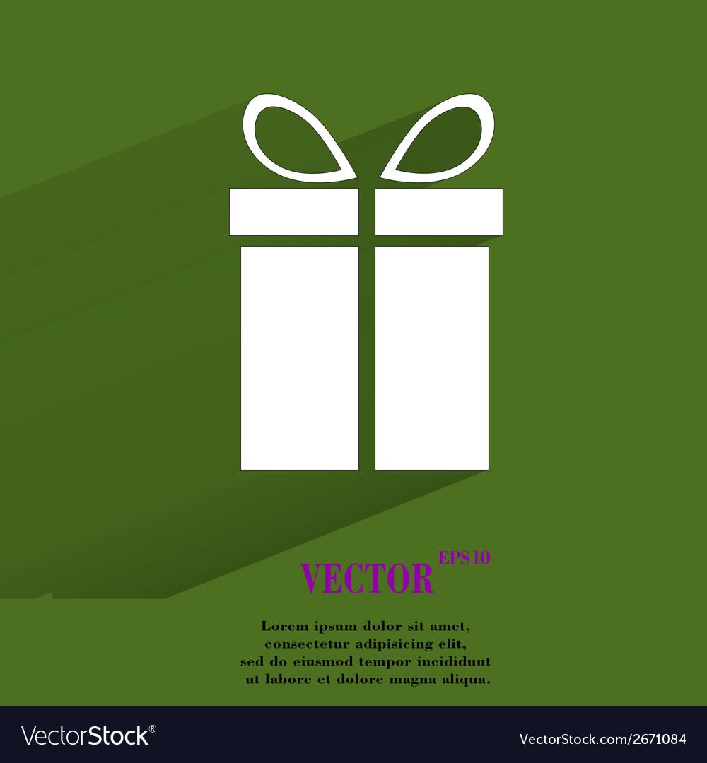 Gift web icon flat design vector   Price: 1 Credit (USD $1)