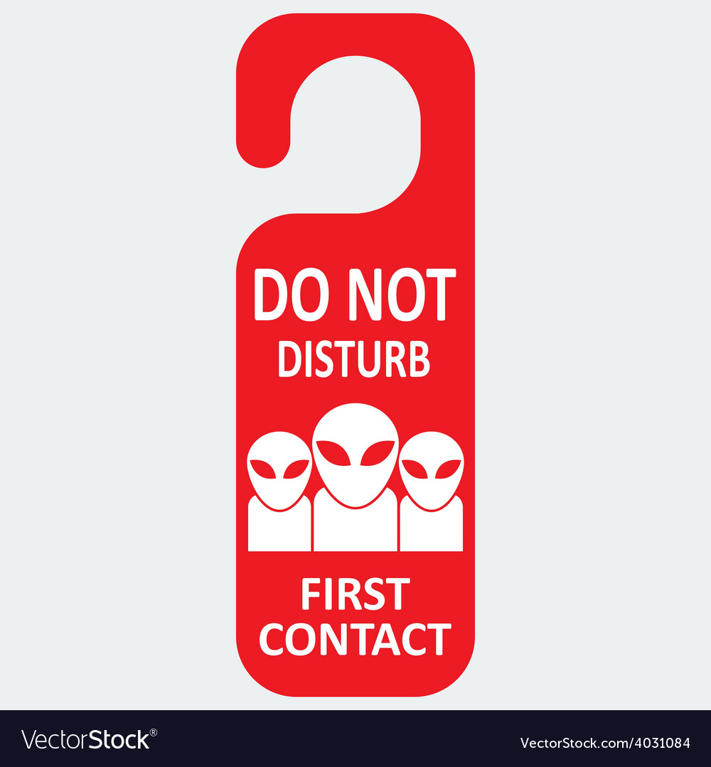 Hotel tag do not disturb with first contact vector | Price: 1 Credit (USD $1)
