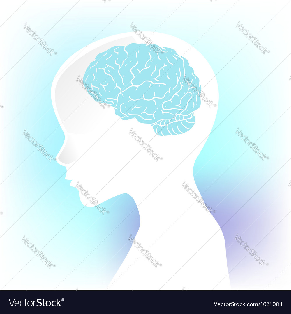 Human anatomical profile silhouette vector | Price: 1 Credit (USD $1)