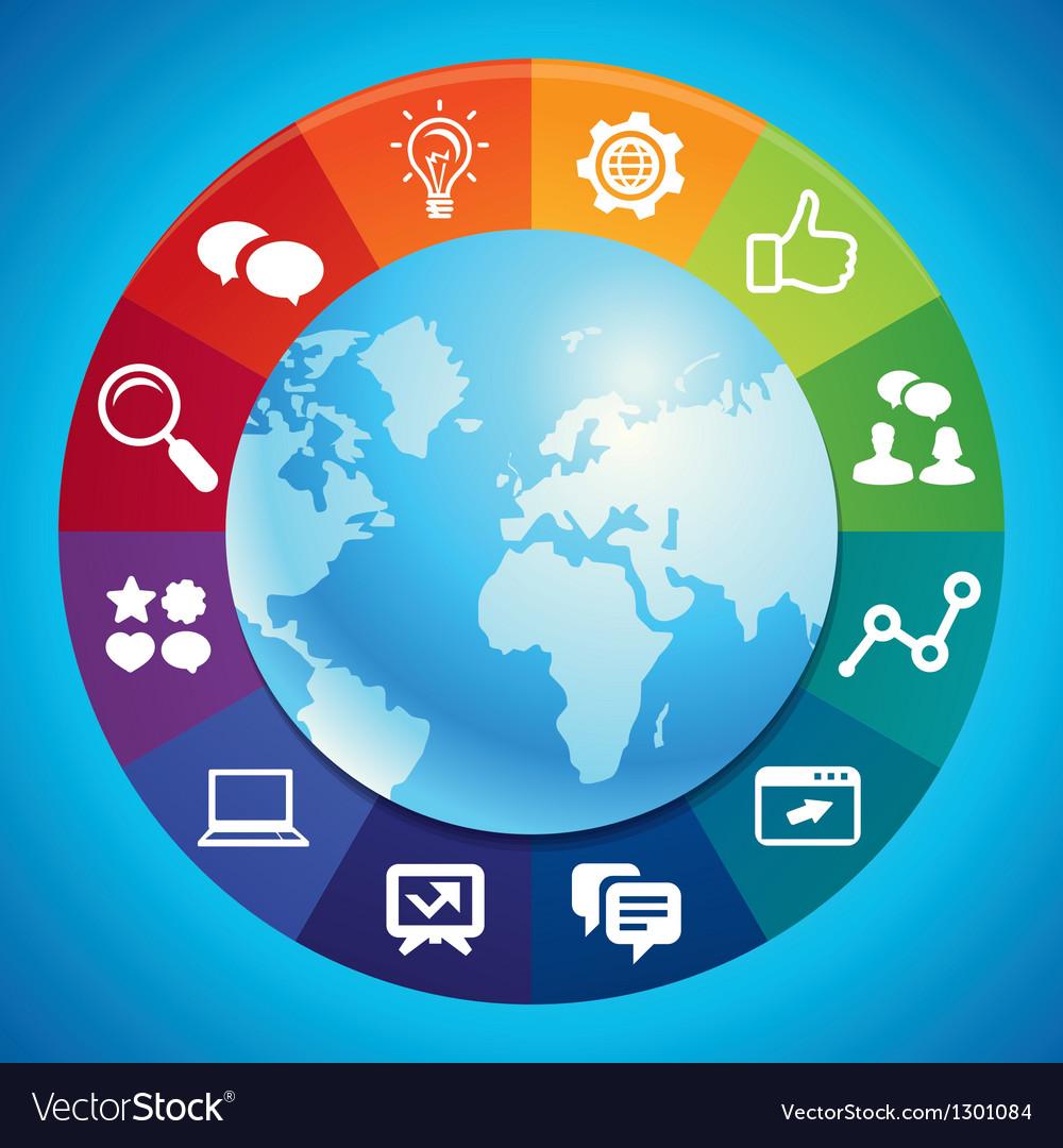 Internet marketing concept vector | Price: 1 Credit (USD $1)