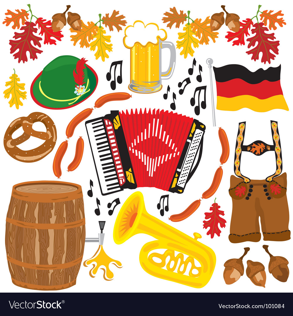 Oktoberfest party clipart elements vector | Price: 3 Credit (USD $3)