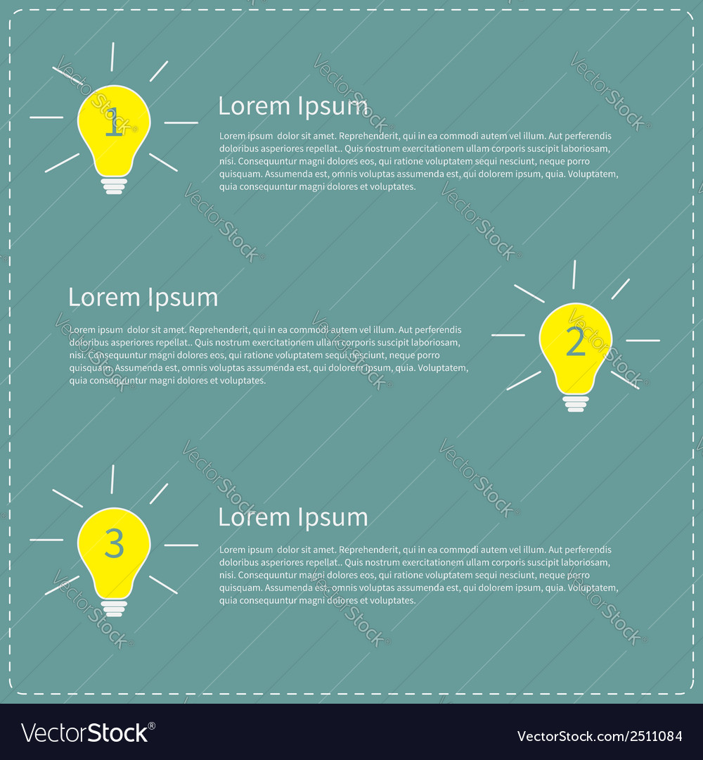 Three step business infographic with yellow white vector | Price: 1 Credit (USD $1)