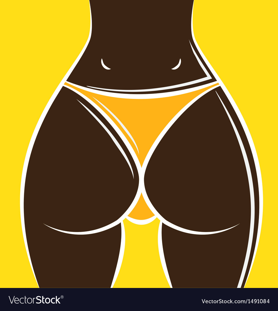 Womans buttocks vector | Price: 1 Credit (USD $1)