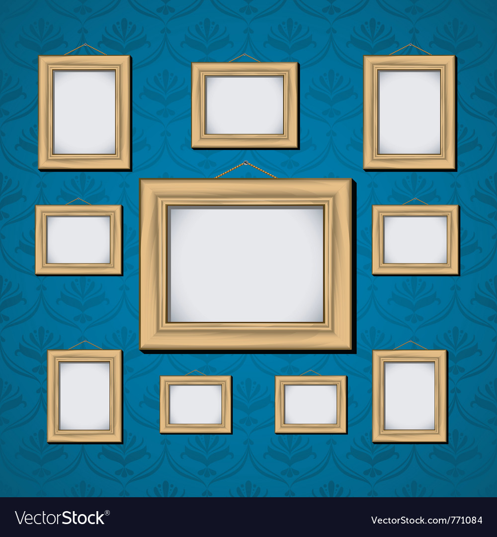 Wooden picture frame vector | Price: 3 Credit (USD $3)