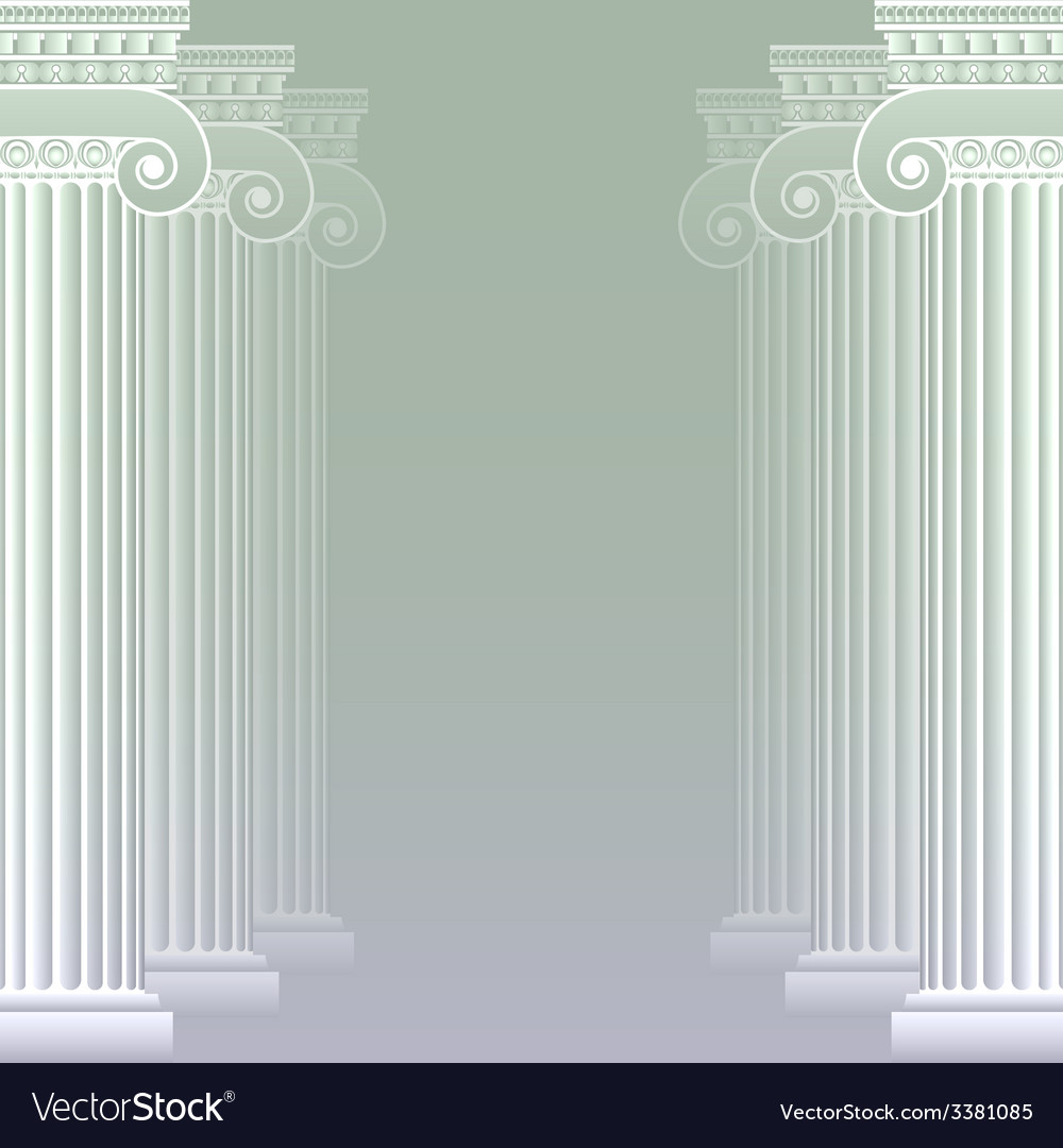 Classical greek or roman columns vector | Price: 1 Credit (USD $1)