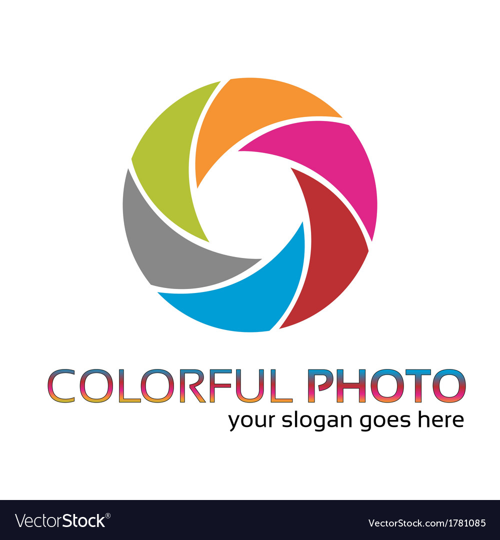 Colorful foto logo vector | Price: 1 Credit (USD $1)