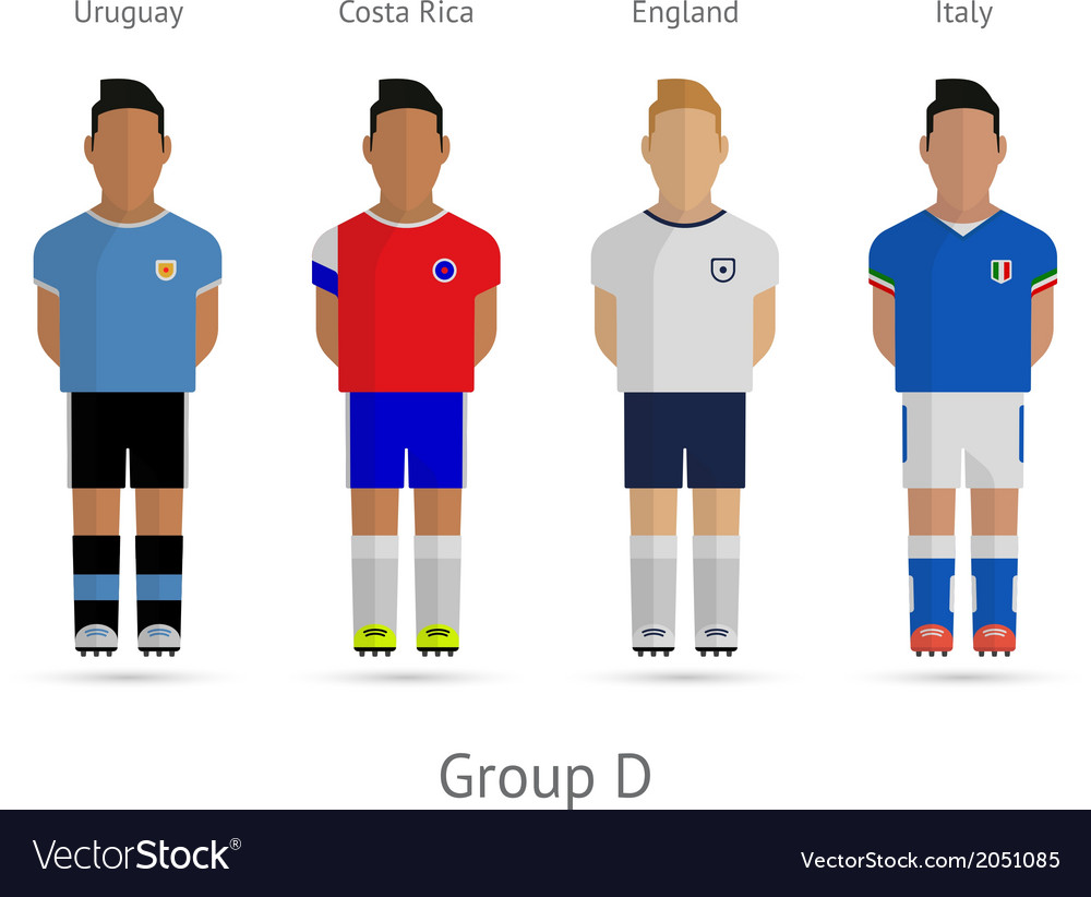 Football teams group d - uruguay costa rica vector | Price: 1 Credit (USD $1)
