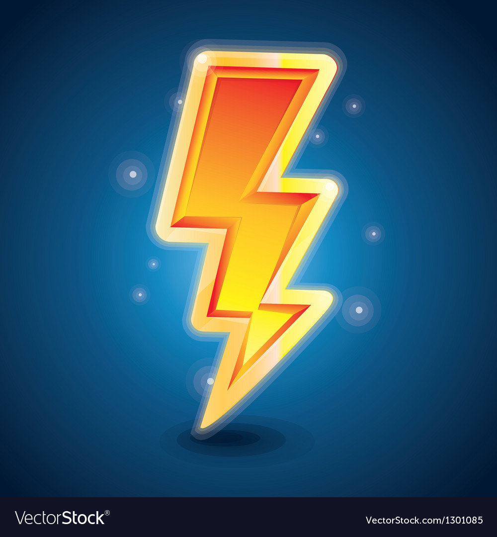 Lightning symbol vector | Price: 1 Credit (USD $1)