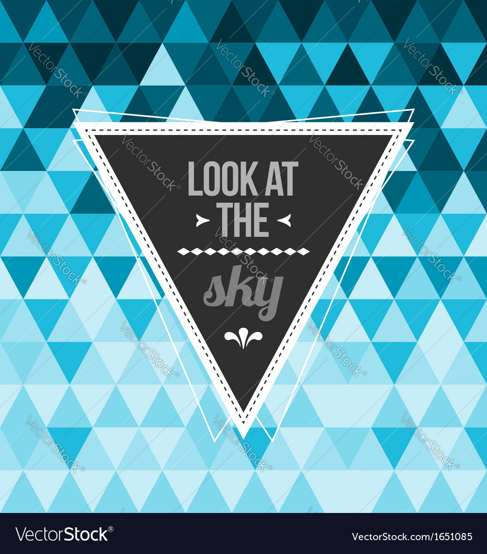 Seamless geometric pattern look at the sky vector | Price: 1 Credit (USD $1)