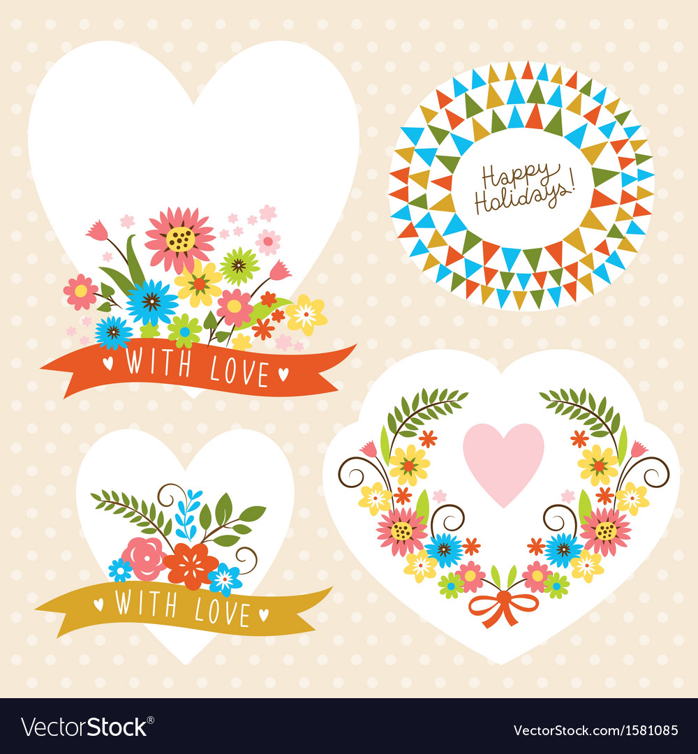 Set of holiday graphic elements vector | Price: 1 Credit (USD $1)