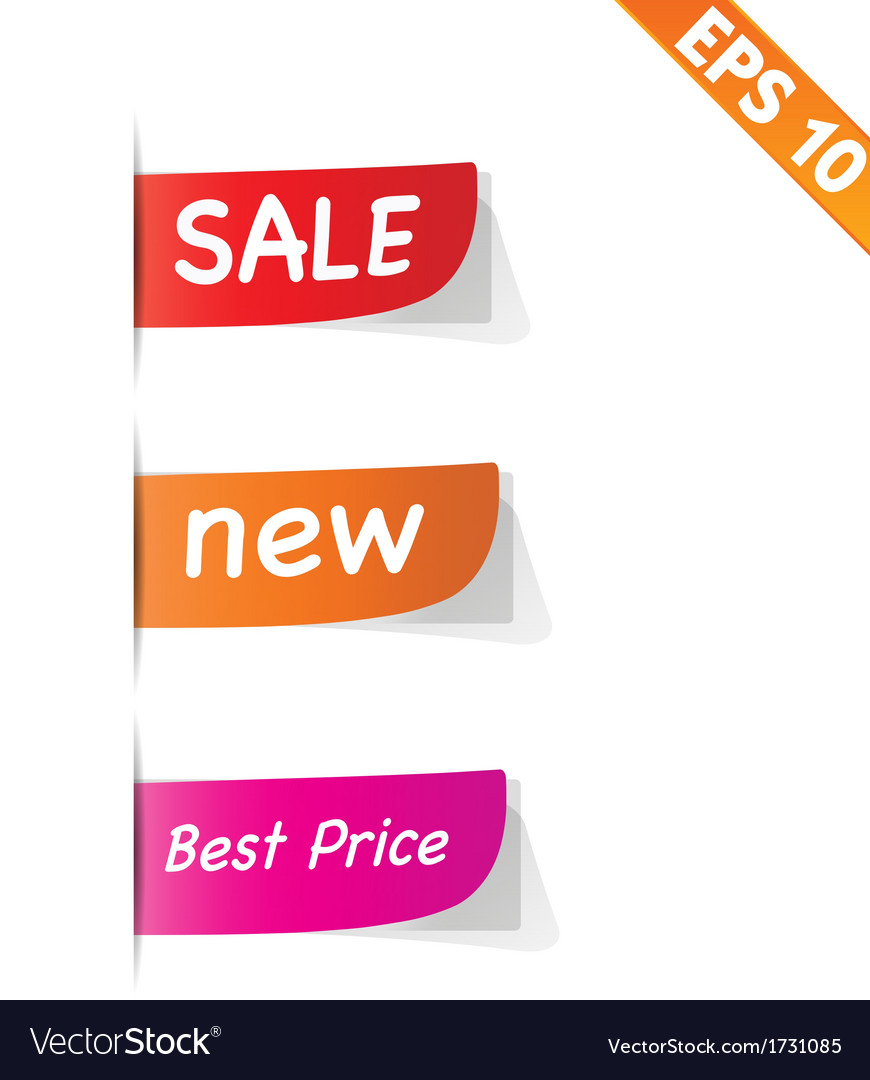 Sign sticker tag - - eps10 vector | Price: 1 Credit (USD $1)