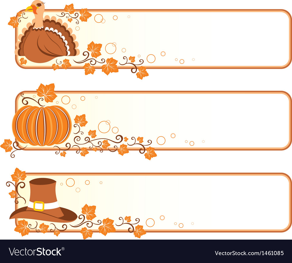 Thanksgiving banners vector | Price: 1 Credit (USD $1)