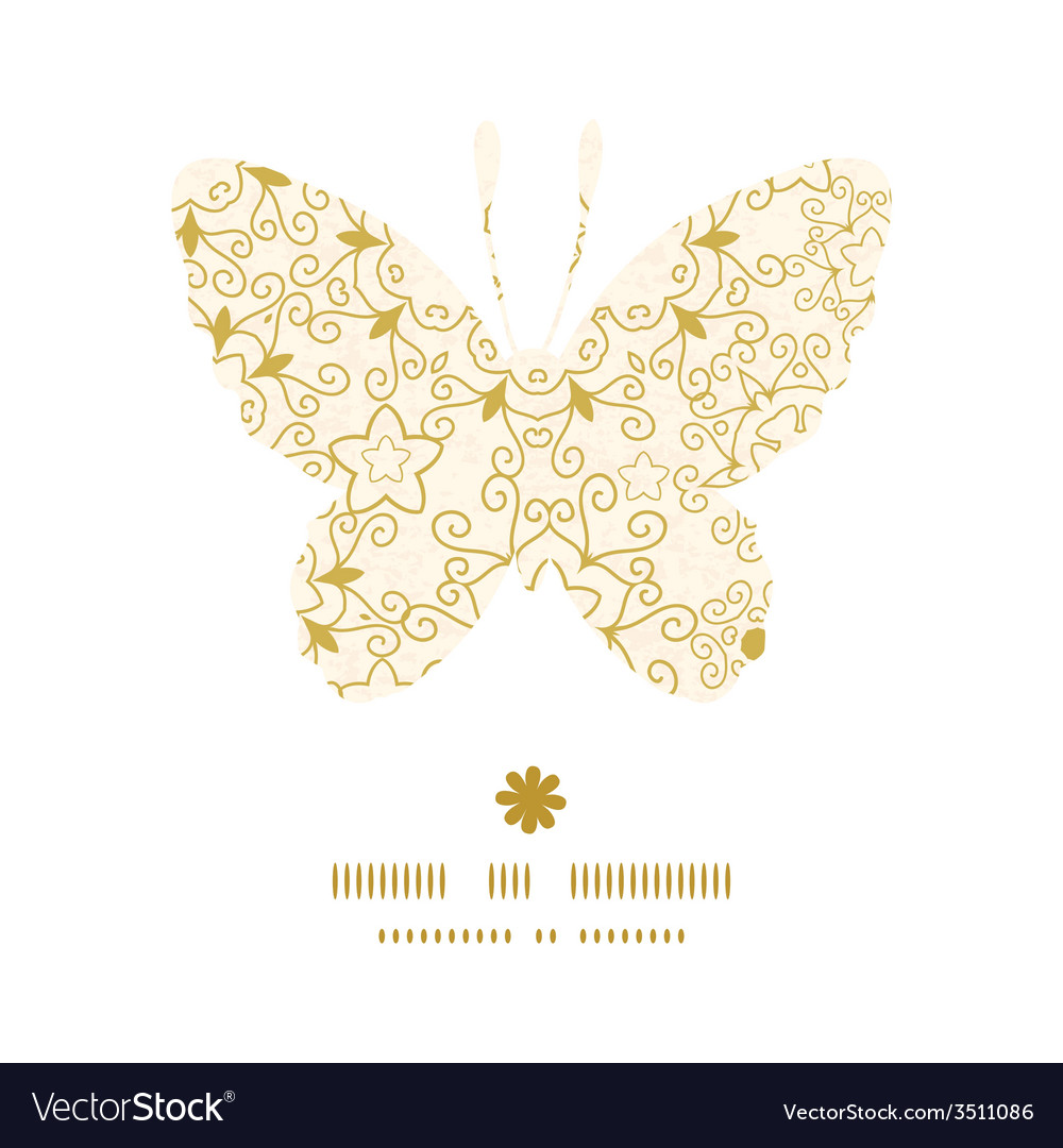 Abstract swirls old paper texture butterfly vector | Price: 1 Credit (USD $1)