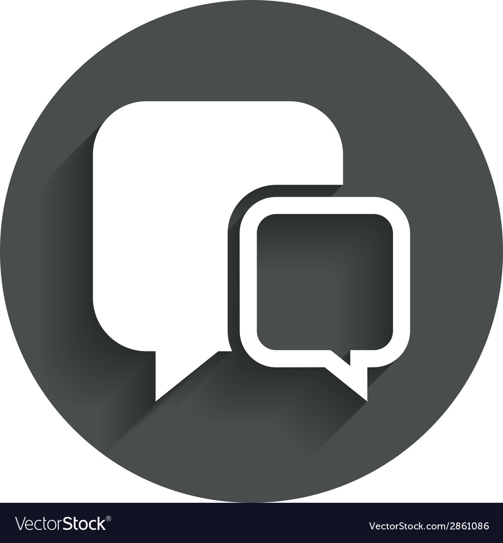 Chat sign icon speech bubbles symbol vector | Price: 1 Credit (USD $1)