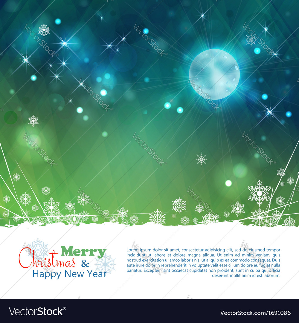 Christmas abstract moon stars background vector | Price: 1 Credit (USD $1)