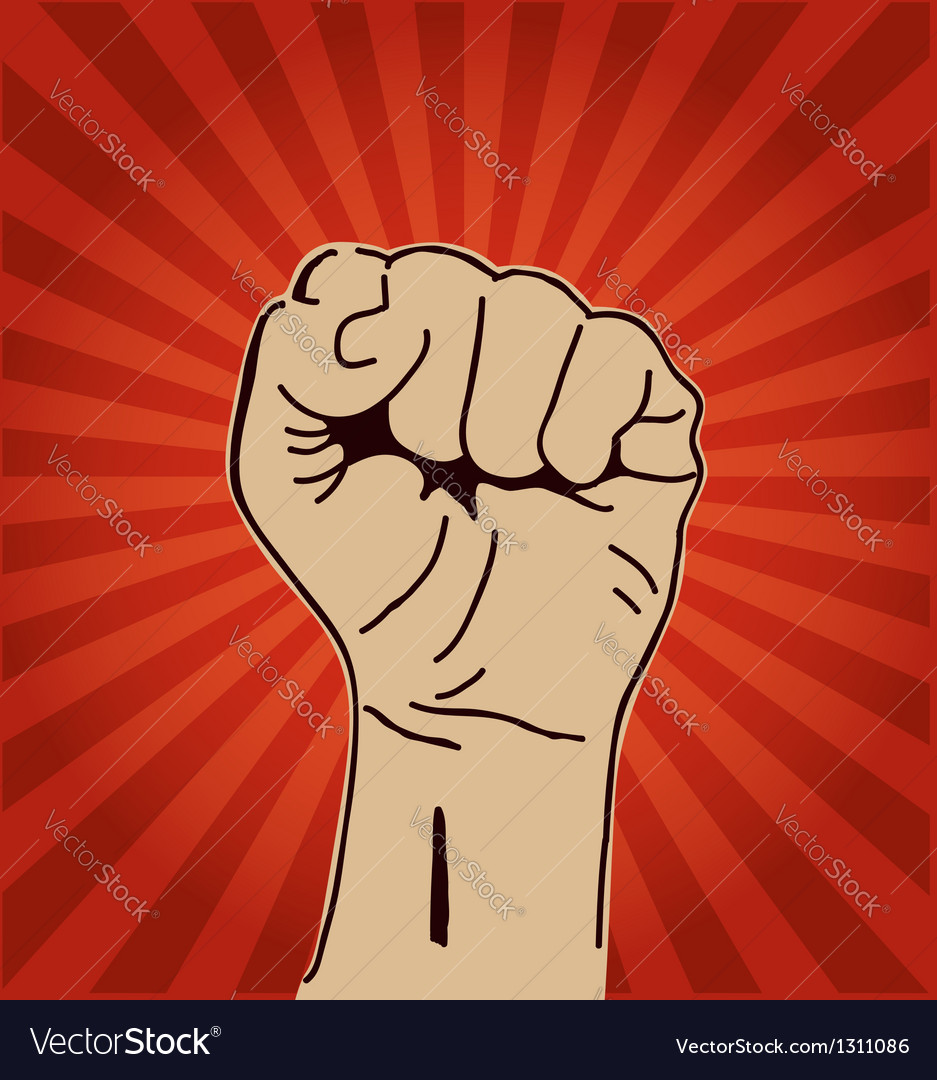 Clenched fist held high vector | Price: 1 Credit (USD $1)
