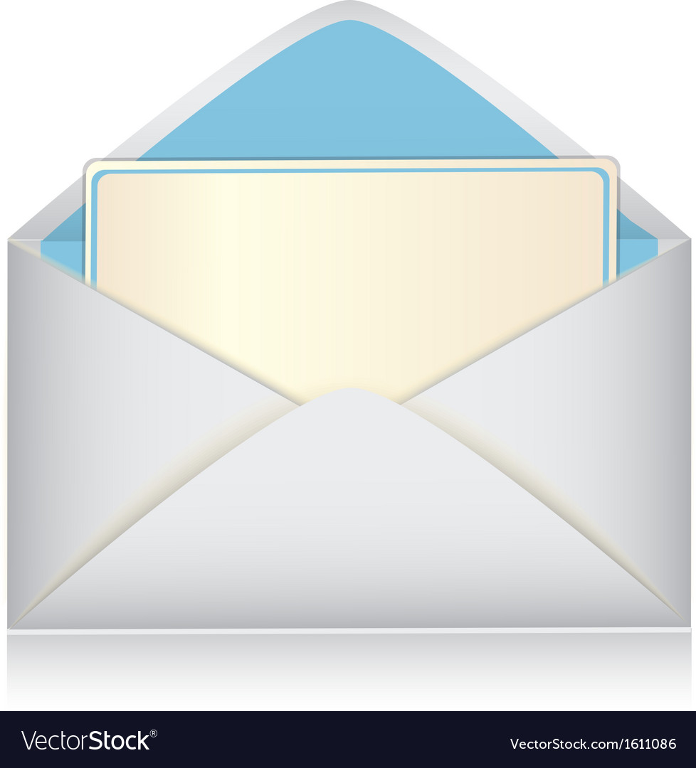 Envelope with a card vector | Price: 1 Credit (USD $1)