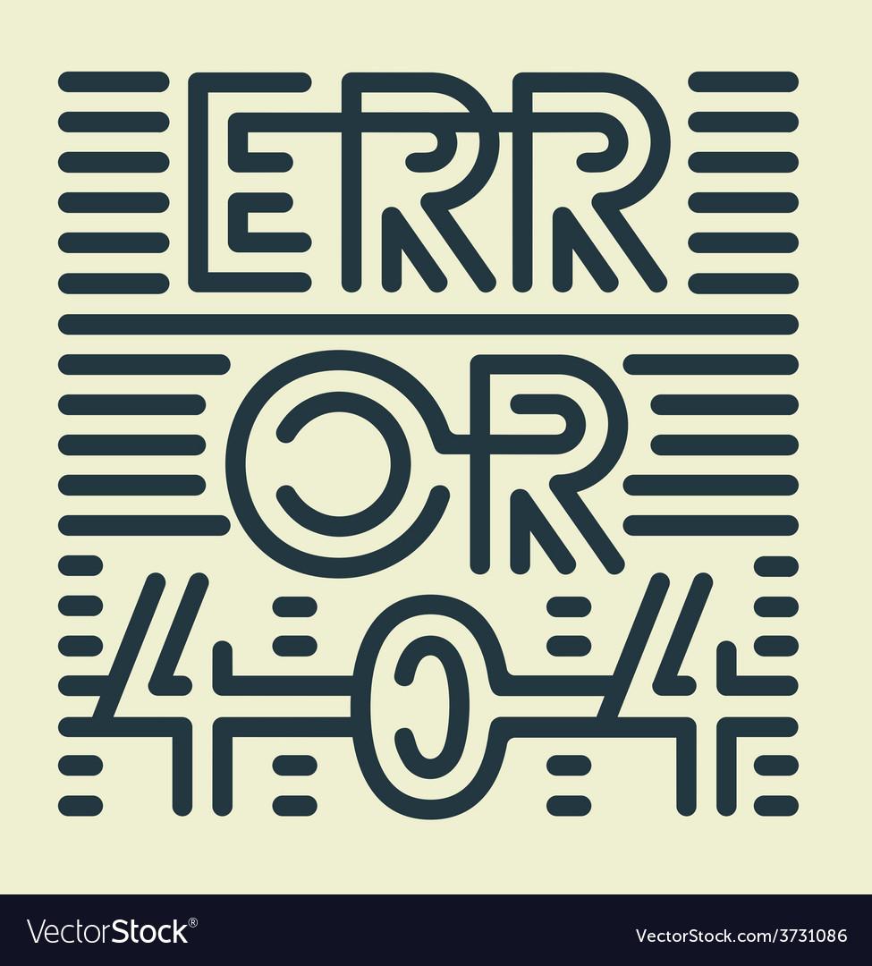 Error 404 vector | Price: 1 Credit (USD $1)