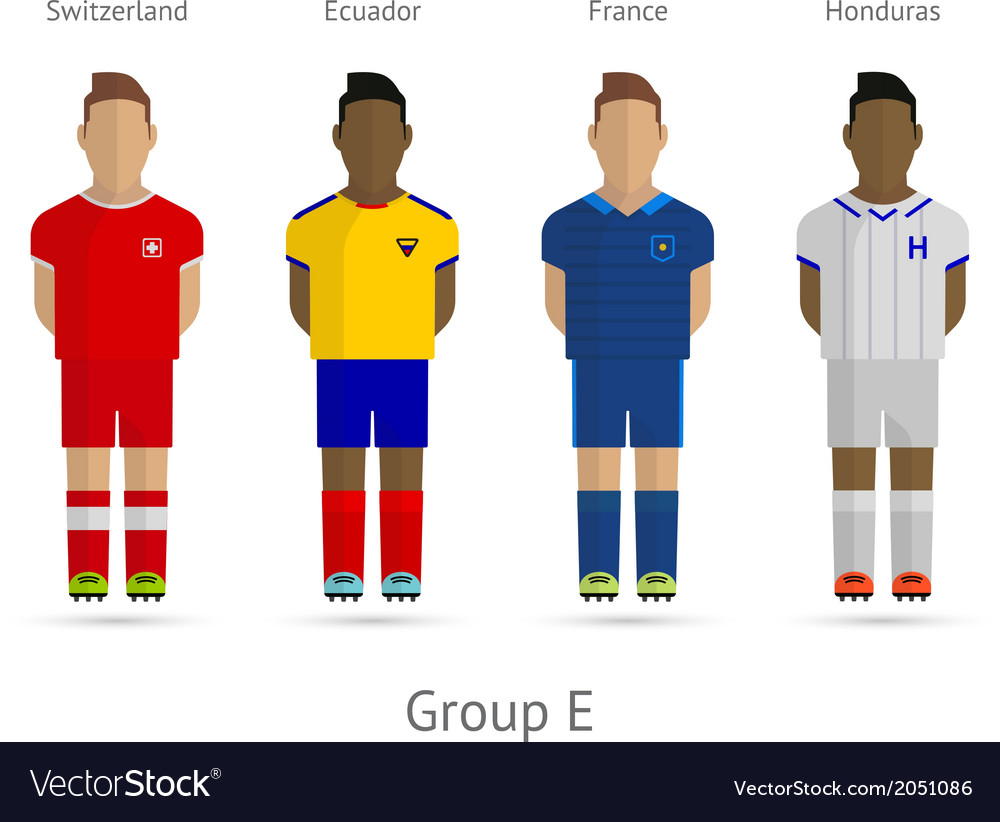Football teams group e - switzerland ecuador vector | Price: 1 Credit (USD $1)