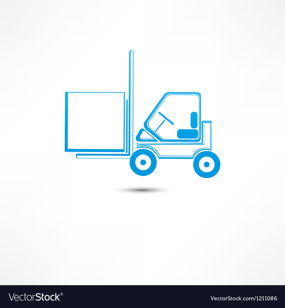 Forklift truck icon vector | Price: 1 Credit (USD $1)