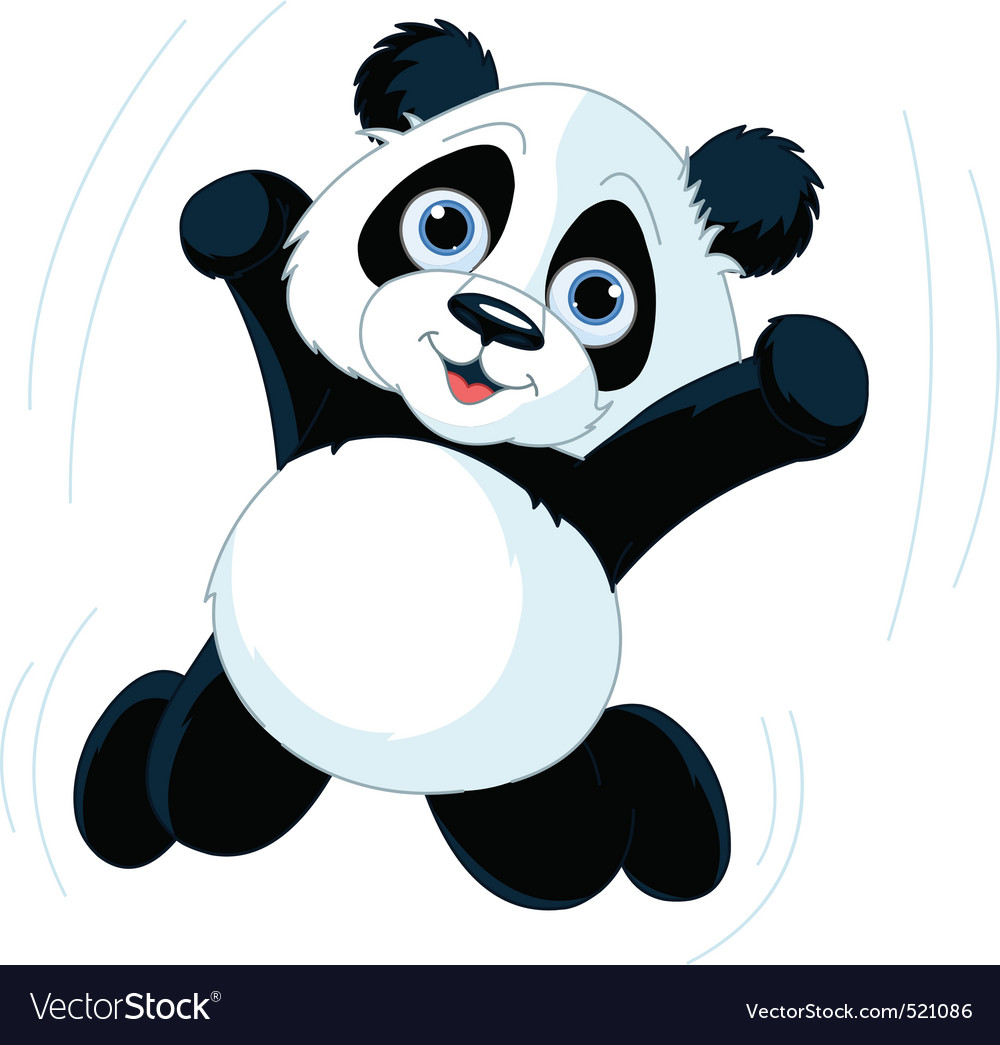 Happy panda vector | Price: 3 Credit (USD $3)