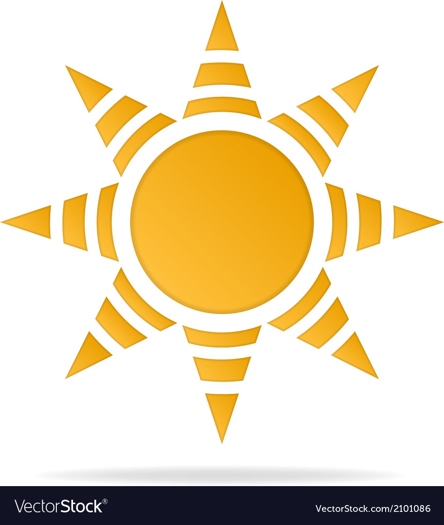 Icon of sun vector | Price: 1 Credit (USD $1)