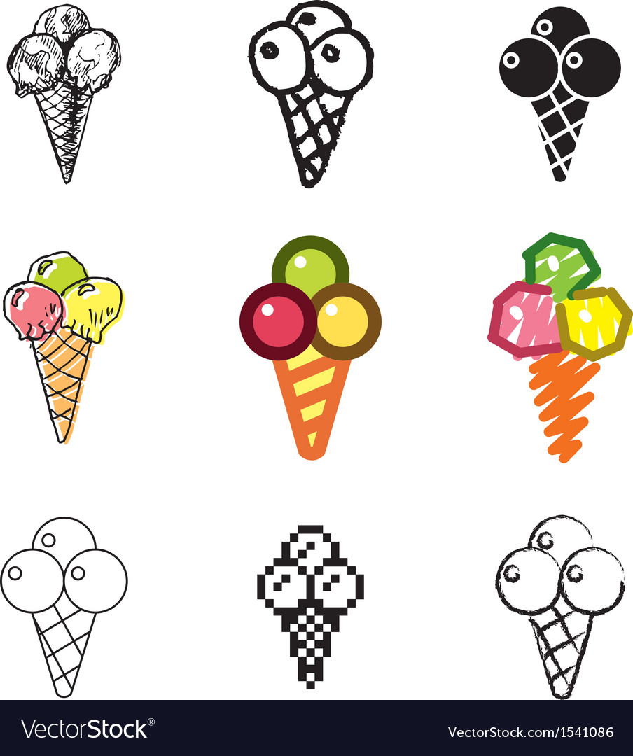 Icons icecream vector | Price: 1 Credit (USD $1)