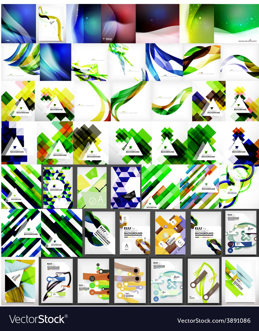 Mega collection of abstract geometric backgrounds vector | Price: 1 Credit (USD $1)