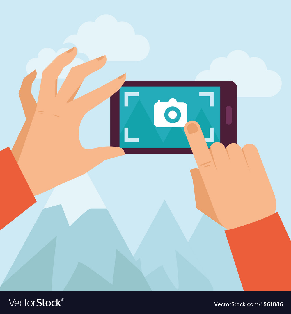 Mobile photo vector | Price: 1 Credit (USD $1)