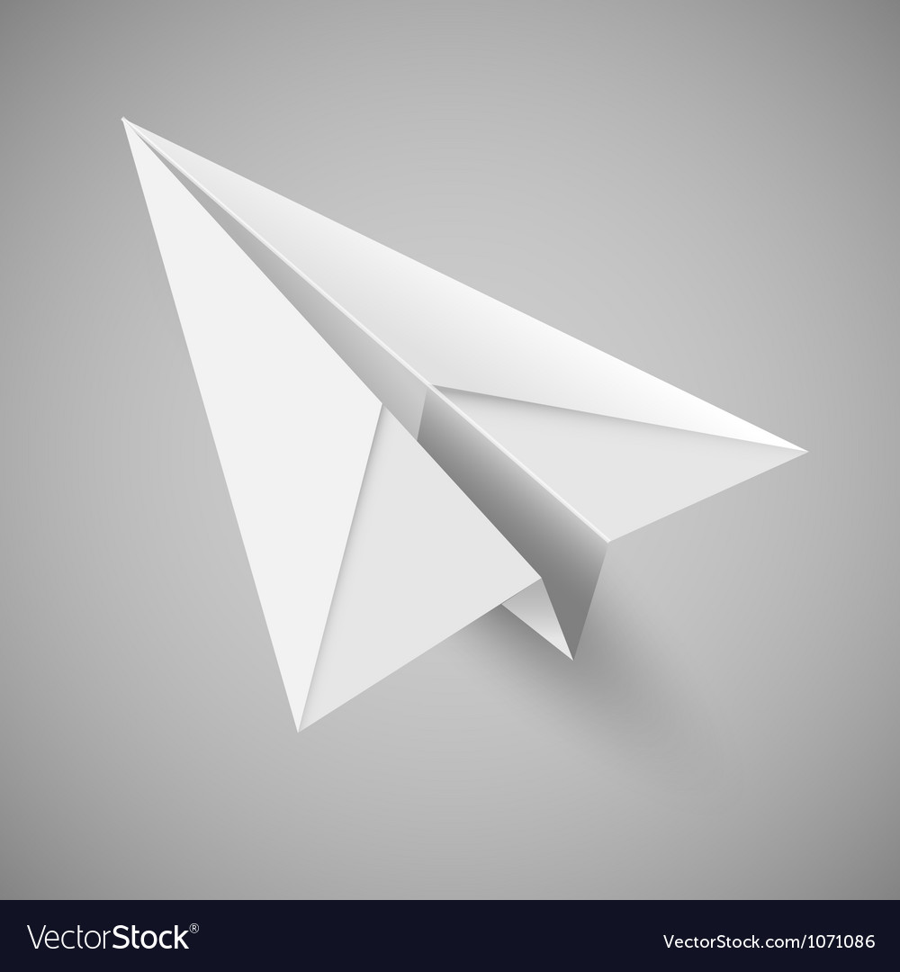 Origami paper airplane vector | Price: 1 Credit (USD $1)