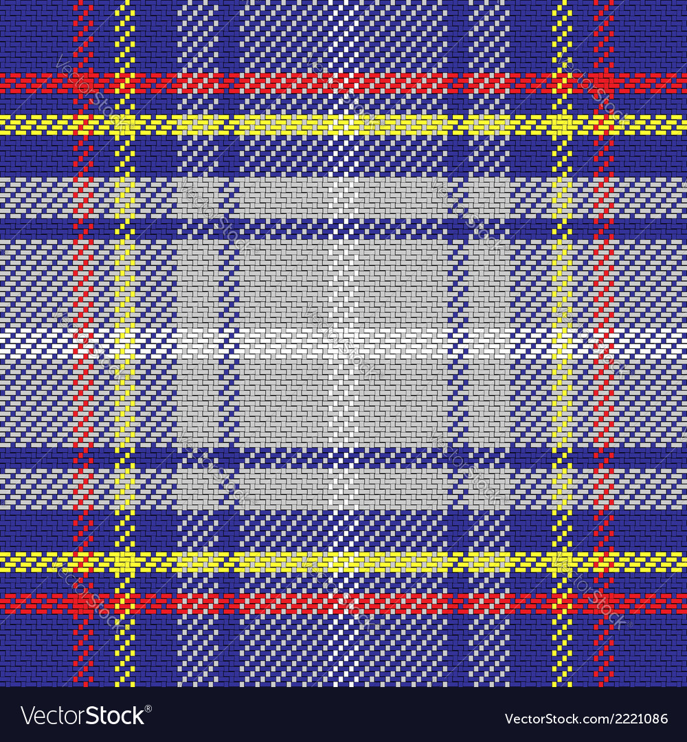 Seamless pattern scottish tartan state of florida vector | Price: 1 Credit (USD $1)