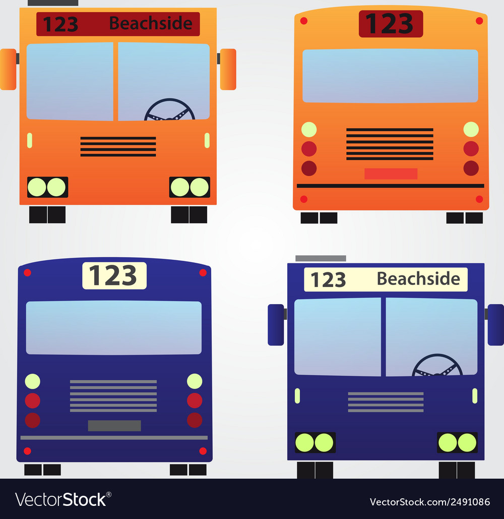 Set of color buses eps10 vector | Price: 1 Credit (USD $1)