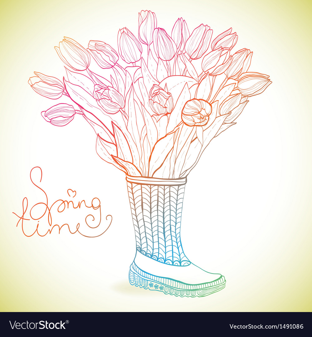 Spring time vector | Price: 1 Credit (USD $1)
