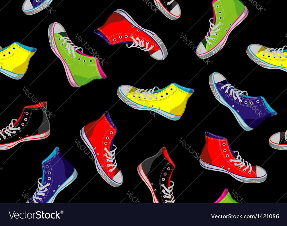 Teenager sneakers pattern vector | Price: 1 Credit (USD $1)