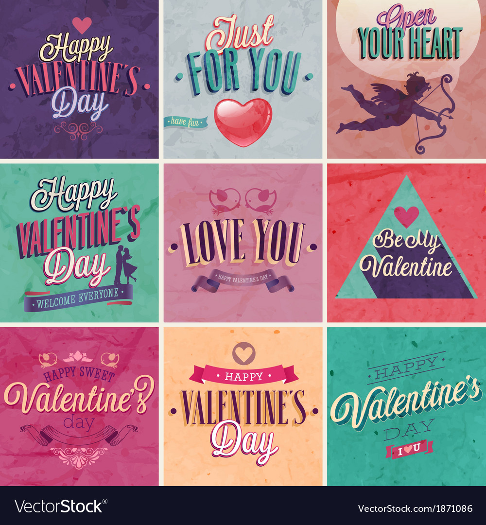 Valentine set vector | Price: 3 Credit (USD $3)