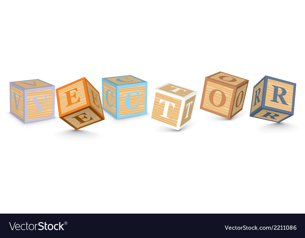 Word written with alphabet blocks vector | Price: 1 Credit (USD $1)