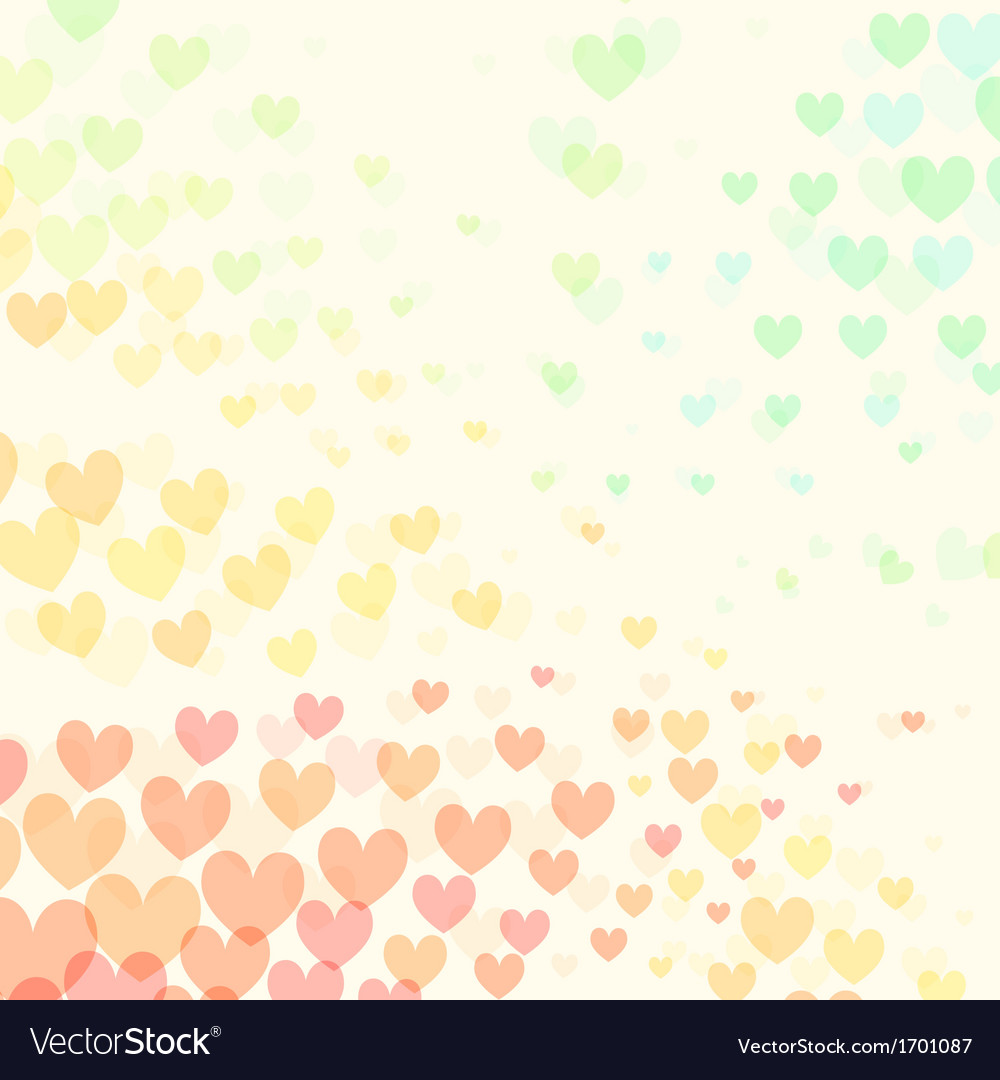 Abstract background with group of colorful hearts vector | Price: 1 Credit (USD $1)