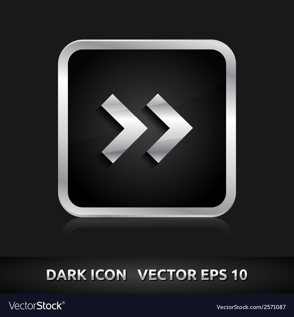 Arrow icon silver metal vector | Price: 1 Credit (USD $1)